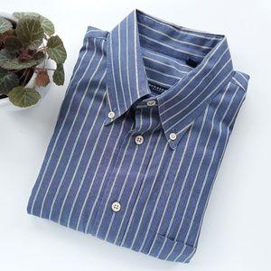 Burberry London Mens Striped Blue Shirt L